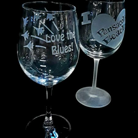 Etched Style by Cheryl Lynn- Our stemmed glasses come in both frosted and non frosted.