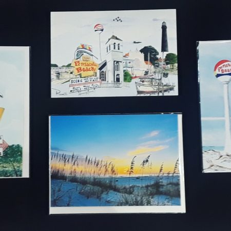 Greeting cards from local artists.