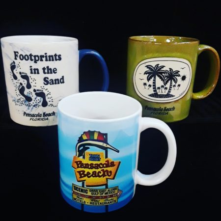 Just a few of our Pensacola Beach mugs, we have so many great new styles to choose from.